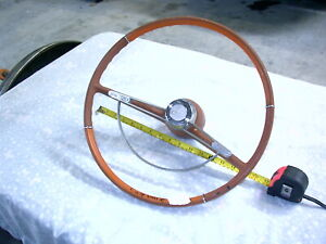 1962 1963 Chevrolet Corvair Steering Wheel With Chrome Horn Ring Car 6 20