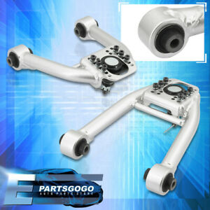 For 96 00 Honda Civic Ek Em Jdm Front Upper Adj A arm Control Camber Kit Silver