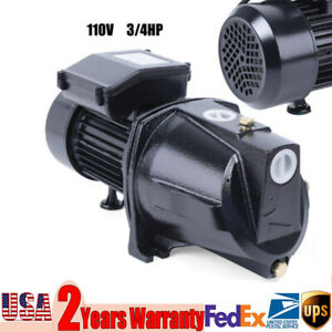 3 4 Hp Shallow Well Water Jet Pump W Pressure Switch 3420 Rpm High Speed 110v