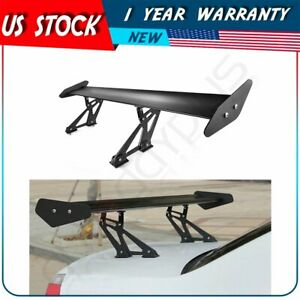 53 Aluminum Black Adjustable Gt Style Rear Car Trunk Spoiler Wing Universal