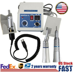 Dental Lab Electric Micro Motor W Straight Contra angle Handpiece 35k Rpm