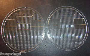 1930 s Stabilite Oval Headlight Lenses Nos Cb 1271 Corcoran Brown Set Of 2 ms190
