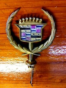 Used 1990 1991 1992 Cadillac Hood Ornament Topper Pn 25531878 Gold