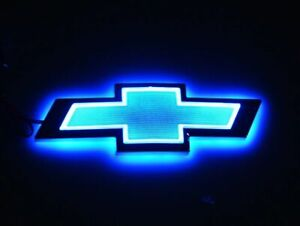 5d Led Car Auto Tail Light Badge Lamp Emblem For Chevrolet Cruze Epica Blue