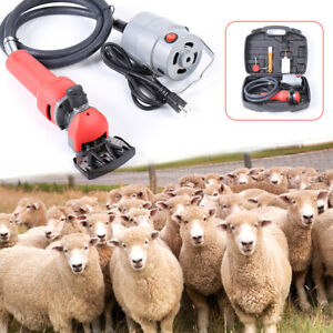 750w Electric Supplies Sheep Goat Shears Animal Shearing Grooming Clipper 110v