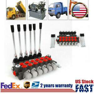 6 Spool Hydraulic Directional Control Valve Adjustable 11gpm For Tractor Loader