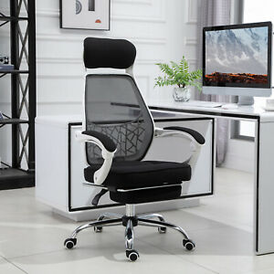 360 Swivel Reclining Office Chair Adjustable Height Recliner W Footrest Home