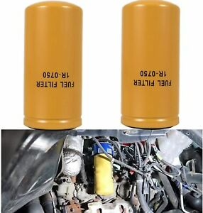 New 2 Pack Fuel Filter 1r 0750 1r0750 Fit Cat Duramax Caterpillar Sealed New