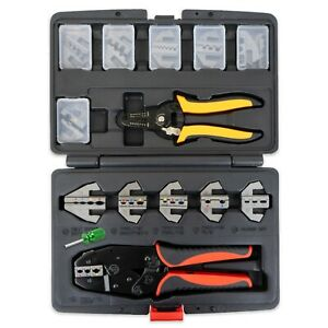 Interchangeable Ratcheting Crimper Set Insulated Superseal Weatherpack