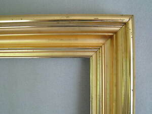 American 1870s Lemon Gold Picture Frame Antique 21 X 26 Deep Molding