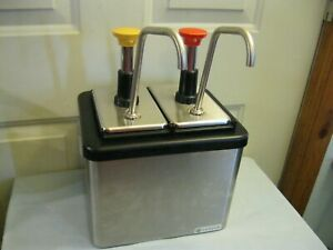 2 Pump Condiment Dispenser By Server Products Inc Ketchup Mustard
