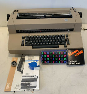 Ibm Correcting Selectric Ii Typewriter With Accessories works Great Tested
