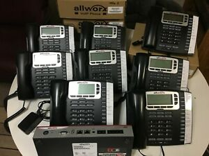 Allworx Connect 324 Business Phone System W 8 Allworx 9212l Black Display Phone
