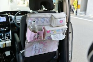 Hello Kitty Car Seat Back Seat Organizer Pockets Case Sanrio Japan W Tracking