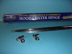 1933 1934 Ford Pickup Commercial Center Hood Hinge With Mounting Brackets