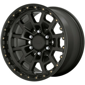 4 Kmc Km718 Summit 17x8 5 6x5 5 18mm Satin Black Wheels Rims 17 Inch