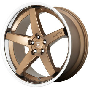 4 asanti Abl31 Regal 20x9 5x115 15mm Bronze Ssl Wheels Rims 20 Inch