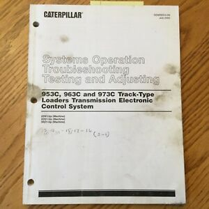 Cat Caterpillar 953c 963c 973c Trans Control System Service Manual Track Loader