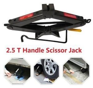 2 5t 2 5 Tonne Emergency Wind Up Scissor Jack Lift For Car Van W Speed Handle