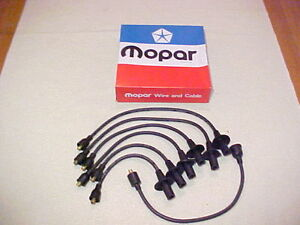 1960 1972 Nos Mopar 3780744 Plymouth Dodge Slant 6 Six Plug Wires Made In Usa