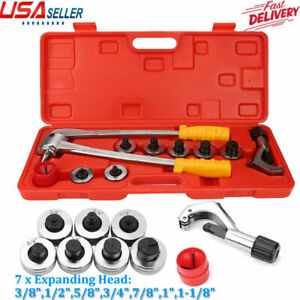 7 Lever Manual Copper Tube Pipe Flaring Expander Swaging Kit Expanding Tool Hot