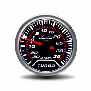 Hiwowsport 2 52mm Turbo Boost Press Gauge Universal White Digital Led In Hg Pis