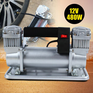 150 200psi Double Cylinder Air Pump Compressor Car Auto Tire Inflator Tools
