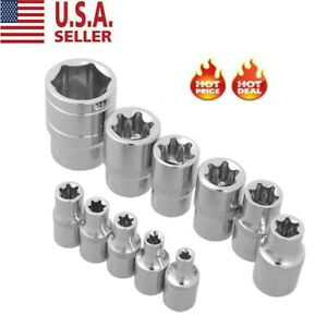 11 Torx Star Bit Female E Socket Set Automotive Shop Tools External E4 E20