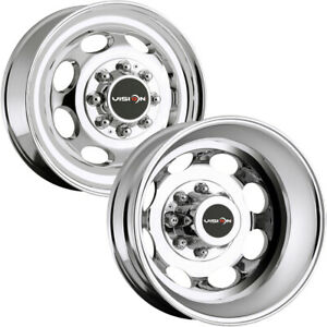 Set Of 6 19 5 Inch Vision 181 Hauler Dually 8x170 Chrome Wheels Rims