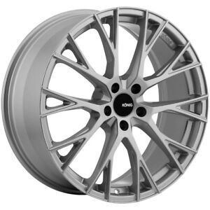 4 Konig 46s Interflow 19x8 5 5x120 35mm Silver Wheels Rims 19 Inch