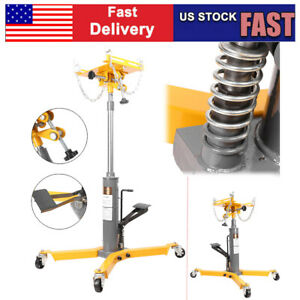 1500lbs 2 Stage Hydraulic Transmission Jack W 360 Swivel Wheels Lift Hoist Auto