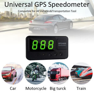 Digital Car Speedometer Speed Display Km H Mph Gps For Bike Motorcycle New Us