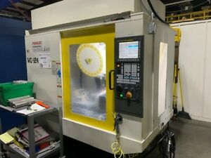 Used Fanuc Robodrill D21lia5 Cnc Drill tap Center 2016 Fourth Axis Table Tail