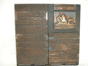 Antique Book Printing Block From The Book The Antichrist Copper Wood Page 115