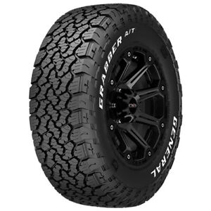 4 new 27x8 50r14 General Grabber A t X 95q C 6 Ply White Letter Tires