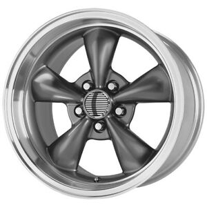 4 Replica 106a Mustang Bullet 17x8 5x4 5 30mm Antracite Wheels Rims 17 Inch