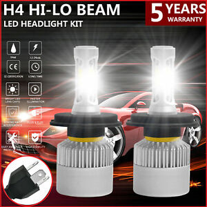 2x H4 9003 Led Headlight Conversion Kit 2200w 310000lm Hi lo Beam Bulbs 6000k Us