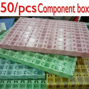 New Genuine High Quality 50pcs Smd Smt Electronic Component Mini Storage Box