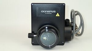 Olympus Ix hlsh100 100w Halogen Lamp Housing Centerable For Ix Series Microscope