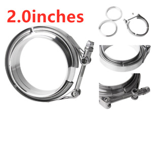 Universal 2 Inch Stainless Steel V Band Turbo Downpipe Exhaust Clamp Vband