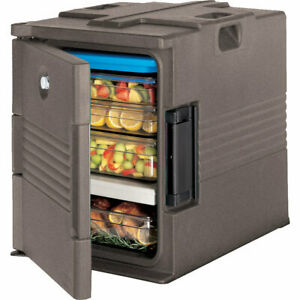 Cambro Ultra Insulated Food Carrier Hot Box Lockable Granite Sand Upc400sp