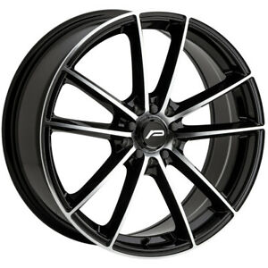 4 pacer 792mb Infinity 18x7 5 5x100 5x4 5 42 Black machined Wheels Rims 18 Inch