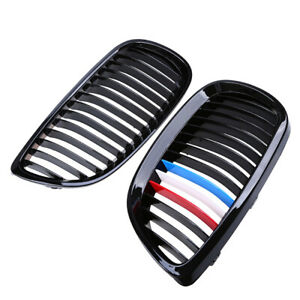 Front Hood Kidney Grille Grill M Color For Bmw 3 Series E92 Coupe M3 2007 2013