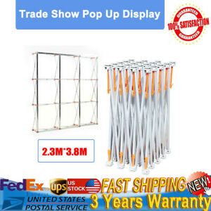 12 5 Ft Trade Show Display Booth Frame Stand Tension Alloy Pop Up Backdrop Stand