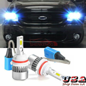 9007 Led Headlight Bulbs 8000k Ice Blue For Ford F150 1997 2003 F250 1997 2004