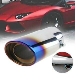 Auto Car Stainless Steel Exhaust Tail Tip Blue Chrome Rear Muffler Tip Pipe Usa
