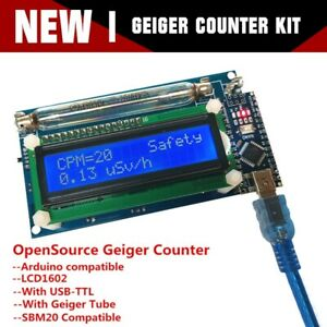 Hot Assembled Geiger Counter Nuclear Radiation Detector System lcd Arduino Nano
