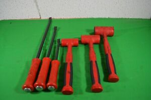 Buy Now 3 Snap On Rubber Hammers And 3 Snap On Pry Bars Tools