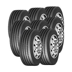8 Tires 295 75r22 5 Amulet Truck Tire Af508 16 Ply 29575225 295 75 22 5
