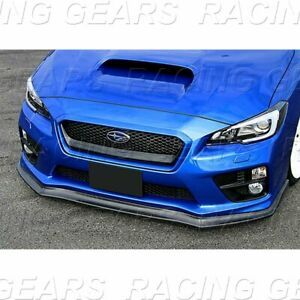 Fit 2015 2020 Subaru Wrx Sti Cs style Unpainted Black Front Body Bumper Lip 3pcs